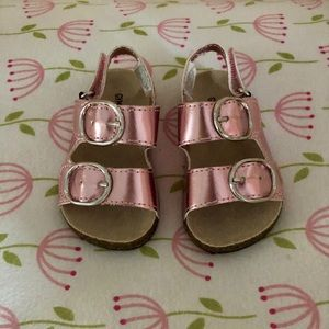 NWOT Gymboree baby girl metallic pink sandals